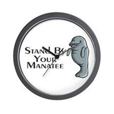 Stand By Your Manatee Wall Clock