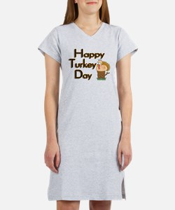 Happy Turkey Day Women's Nightshirt