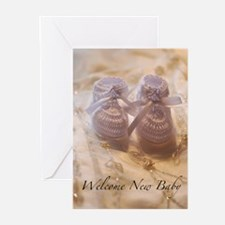 Unisex Baby Shoes Greeting Cards (Pk of 10)