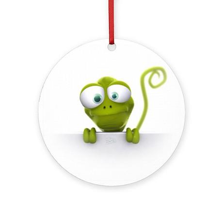 Lazy Lizard Life Ornament (Round)