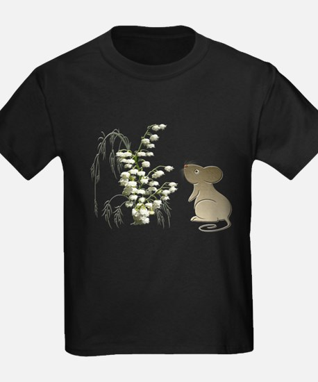 Cute Mouse and lily of the va T