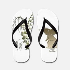 Cute Mouse and lily of the va Flip Flops