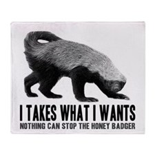 Honey Badger Speaks Throw Blanket