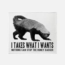 Honey Badger Speaks Throw Blanket