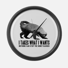 Honey Badger Speaks Large Wall Clock