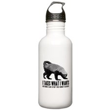 Honey Badger Speaks Sports Water Bottle