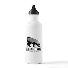 Honey Badger Speaks Water Bottle