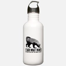 Honey Badger Speaks Water Bottle