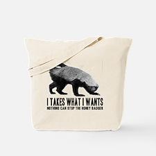 Honey Badger Speaks Tote Bag