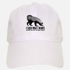 Honey Badger Speaks Baseball Baseball Cap