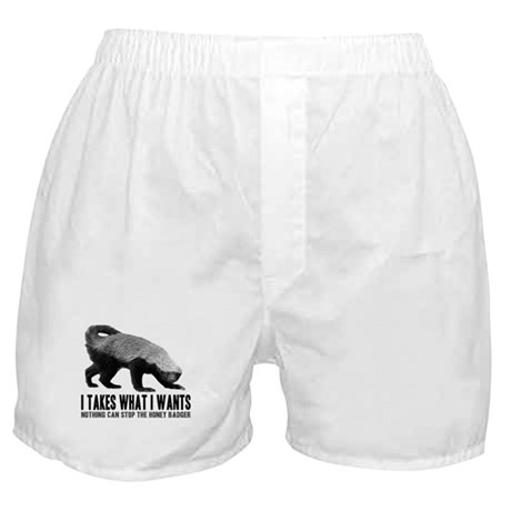 Honey Badger Speaks Boxer Shorts