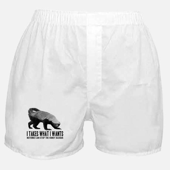Honey Badger Speaks Boxer Shorts