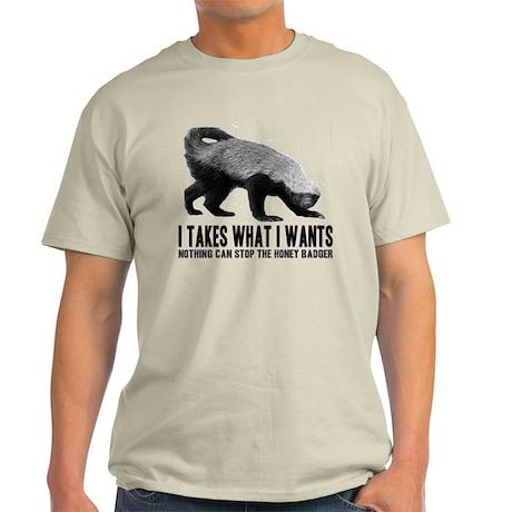 Honey Badger Speaks Light T-Shirt