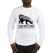 Honey Badger Speaks Long Sleeve T-Shirt