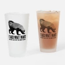 Honey Badger Speaks Drinking Glass