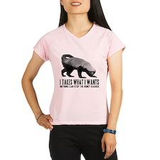 Honey Badger Speaks Performance Dry T-Shirt