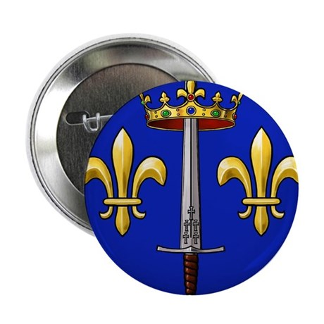 """Joan of Arc heraldry 2.25"""" Button (100 pack)"""