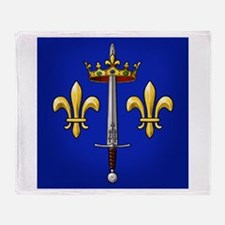 Joan of Arc heraldry Throw Blanket