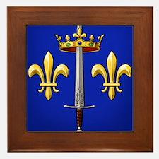 Joan of Arc heraldry Framed Tile
