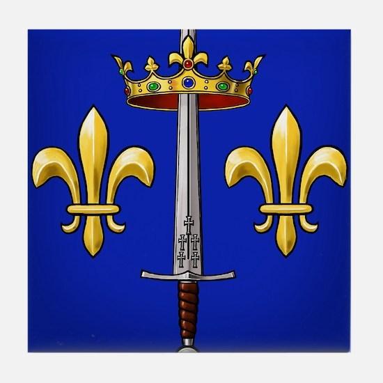 Joan of Arc heraldry Tile Coaster