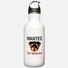 WANTED For Terrierism Water Bottle