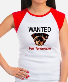 WANTED For Terrierism Women's Cap Sleeve T-Shirt