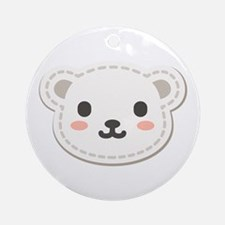 Cute Polar Bear Ornament (Round)