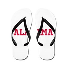 Crimson Alabama Flip Flops