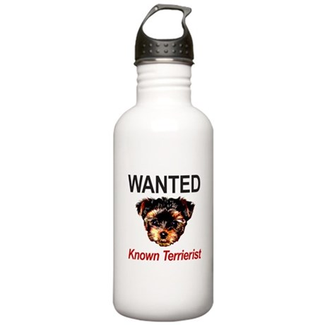 WANTED Known Terrierist Stainless Water Bottle 1.0