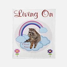 Living On Cloud Nine Throw Blanket
