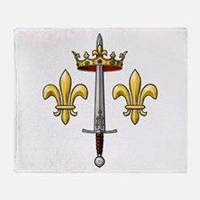 Joan of Arc heraldry 2 Throw Blanket