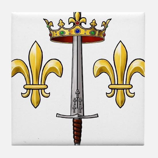 Joan of Arc heraldry 2 Tile Coaster