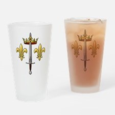 Joan of Arc heraldry 2 Drinking Glass