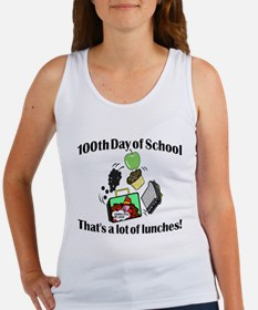 100th Day of School, Lunches Women's Tank Top