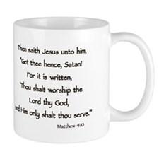 Jesus Temptation Satan Mug