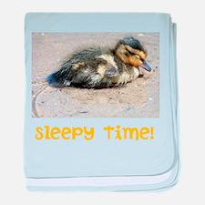 Sleepy Time! Duckling baby blanket