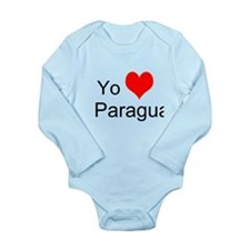 Cute Paraguay Long Sleeve Infant Bodysuit