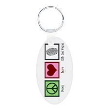 Peace Love CSI: Vegas Keychains