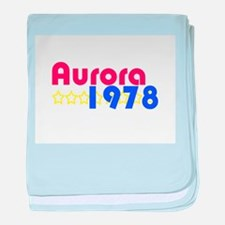 Aurora baby blanket