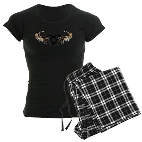 """Angelic"" Wings - Women's Dark Pajamas"