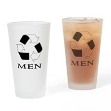 Recycle Men Drinking Glass
