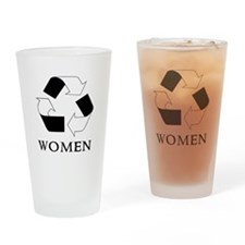 Recycle women Drinking Glass