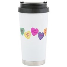 Candy Hearts! Travel Mug