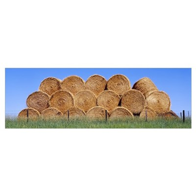 Hay Bales WY Poster