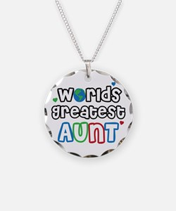 World's Greatest Aunt! Necklace Circle Charm
