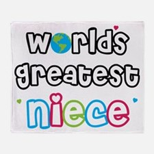 World's Greatest Niece! Throw Blanket