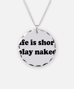 Life is short Necklace Circle Charm