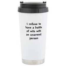 Battle of Wits Thermos Mug