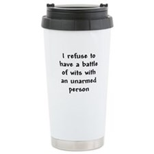 Battle of Wits Travel Coffee Mug