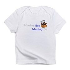 Funny and cute See Monkey Infant T-Shirt